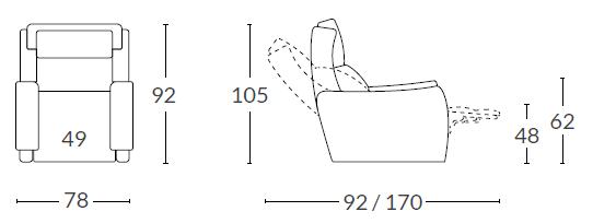 medidas-sillon-relax-manual-electrico-murcia-maxi